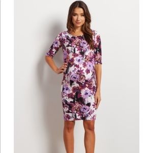 Purple Floral Maternity Dress 💜